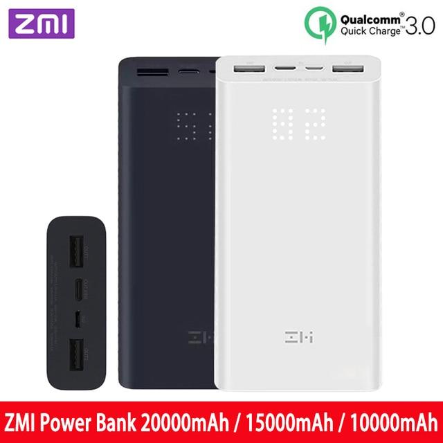 باور بانك من ZMi بسعة 20000 مللي أمبير/الساعة 15000 مللي أمبير/الساعة/10000 مللي أمبير/الساعة شحن سريع شاحن qc3.0 مناسب لأجهزة الكمبيوتر المحمول باور بانك بسعة 10000 مللي أمبير/الساعة