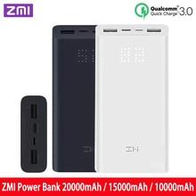 ZMi power Bank 20000mah / 15000mah / 10000mah fast charging qc3.0 charger is suitable for notebook power Bank 10000 MAH