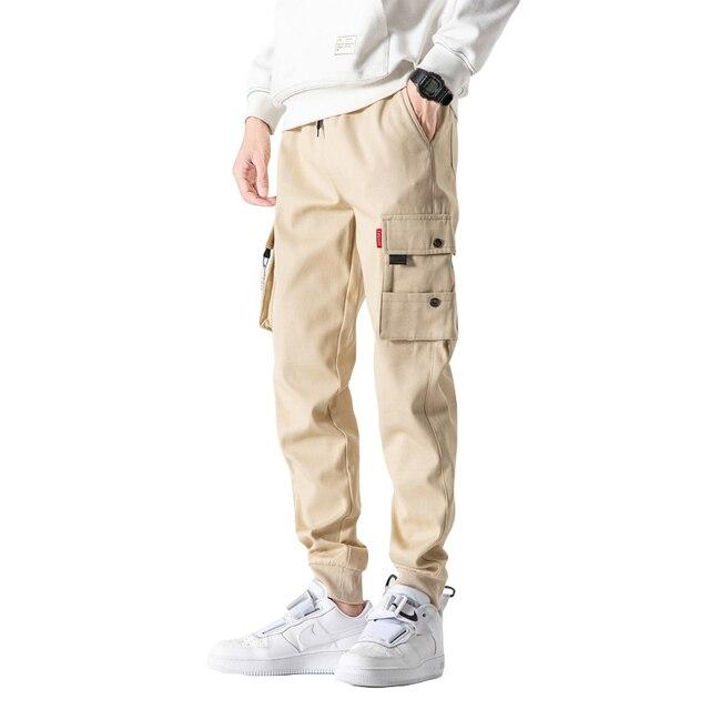 Autumn Black Jogger Men Cargo Pants Outdoor Tactical Military Pants Casual Loose Sweat Pants Men Cotton Trousers Big Size 8XL 5