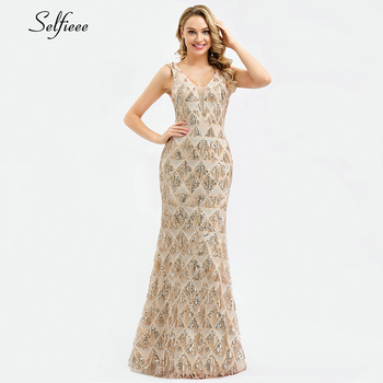 Sparkle women dresses Long Mermaid Sequined Tank V-Neck Sleeveless Sexy Maxi Summer Dresses 2020 Cheap Elegant Party Dresses 3