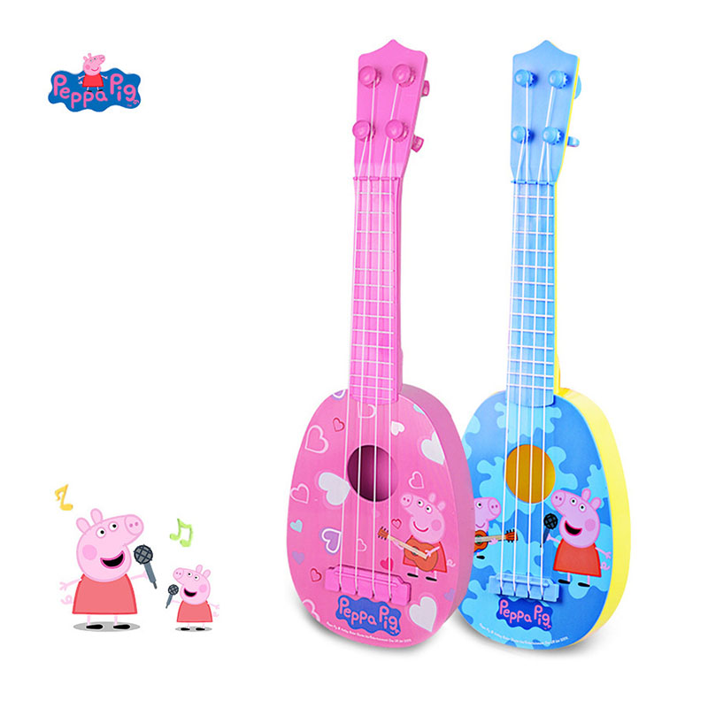 Peppa Pig Ukulele Music Guitar Toy For Beginners Children 36cm Musical Instruments Kids Birthday Christmas Gift