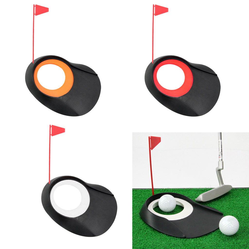 Portable Golf Mat Practice Putting Cup With Hole And Plastic Flag For Indoor Outdoor Office Yard Putt Training