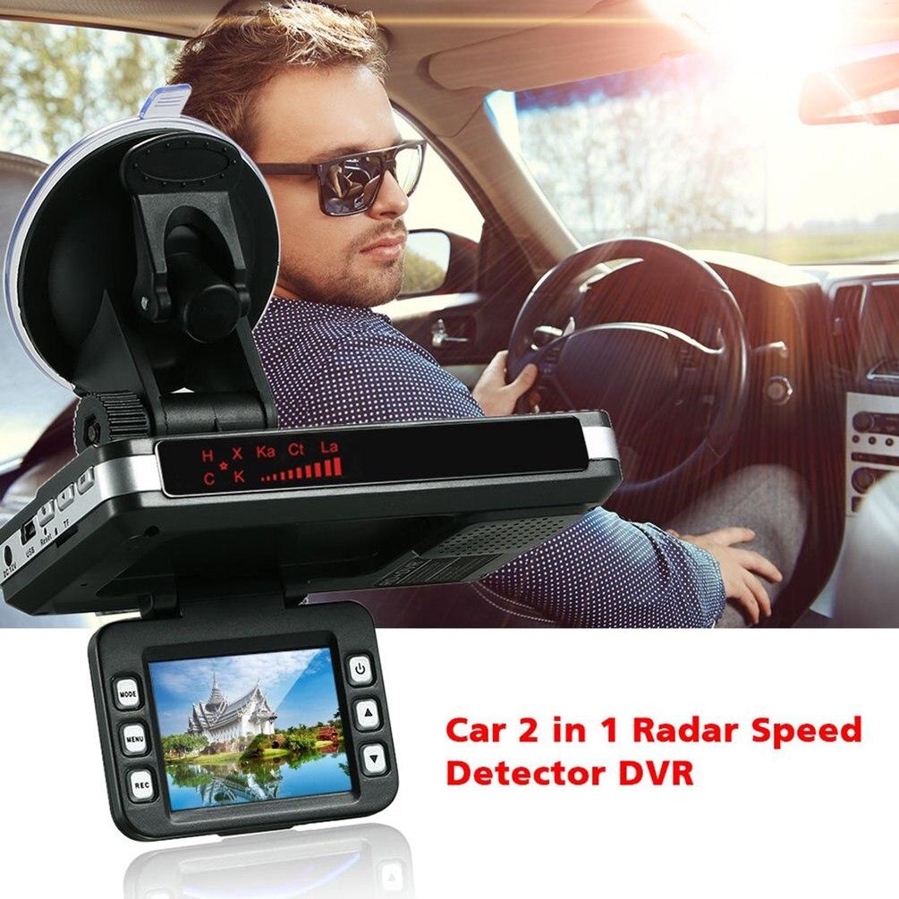 HD 2 en 1 voiture tableau de bord tachygraphe DVR caméra laser Radar enregistreur de vitesse DVR vue arrière caméra d'enregistrement