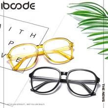 Готовые Очки iboode для близорукости 0 -1-1,5-2-2,5-3-3,5-4 -5 -6, мужские и женские короткие искусственные очки с черной прозрачной оправой