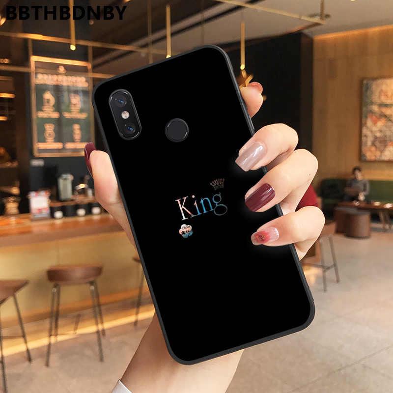 Coque de téléphone Roi Reine Couronne Personnalisé Photo Doux fundas étui de téléphone pour xiaomi 8 9 se Redmi 6 6pro 6A 4X7 note 5 7