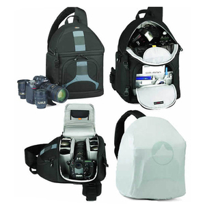 Image 4 - Lowepro مقلاع 300 AW DSLR كاميرا صور حقيبة كتف بحب تعليق مع غطاء الطقس شحن مجاني