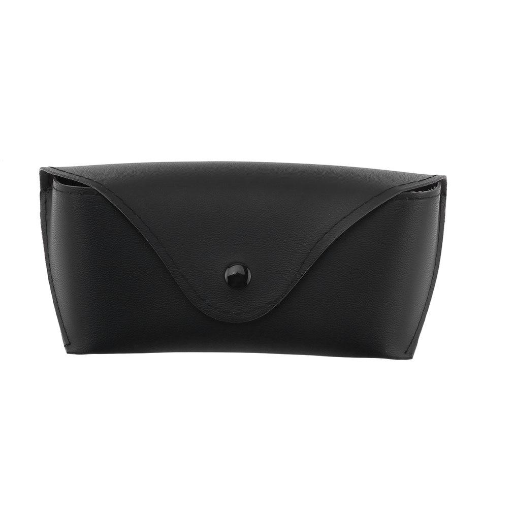 Fashion Men Women Portable Glasses Case Glasses Box for Eyeglass Oversize Sunglasses Durable Soft PU Leather Black Universal