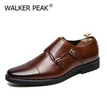Taille 13 hommes chaussures formelles Double moine sangle Oxford en cuir carré orteil mode robe chaussures d'affaires confortable mocassins décontractés