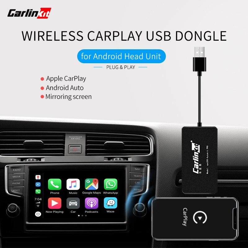 Carlinkit carplay dongle sem fio para android jogador de navegação mini usb carplay vara com android ligação espelhamento automático