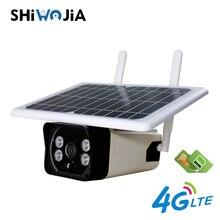 SHIWOJIA 4G SIM Card Solar IP Camera 1080P HD Waterproof Outdoor Wifi Audio Wireless Security Surveillance CCTV Gun Camera