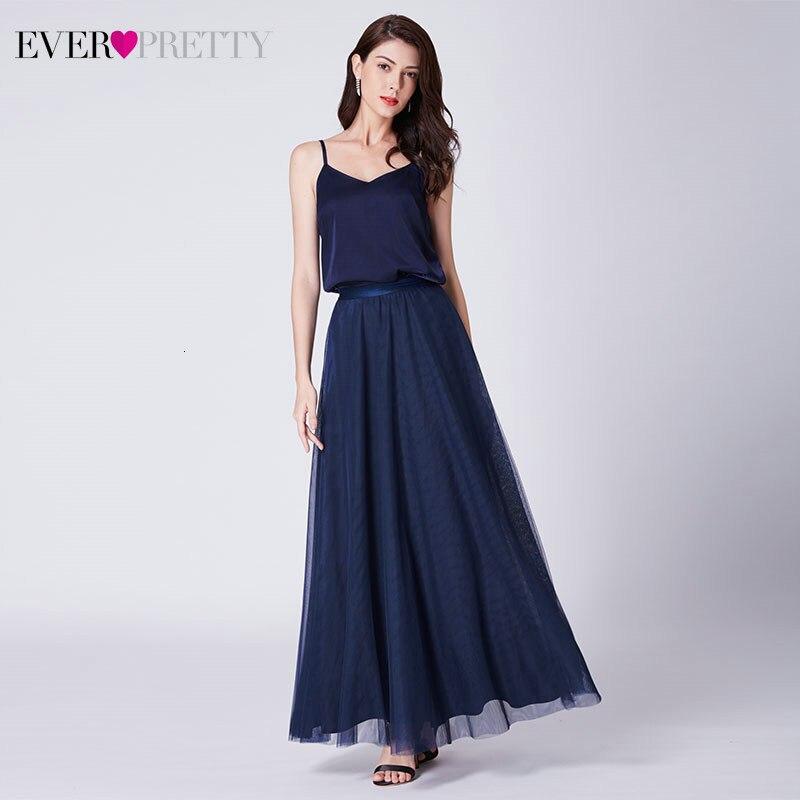 Robe De Soiree Ever Pretty Evening Dresses A-Line Adjustable Straps V-Neck Tulle Formal Dresses AS07363NB Elegant Party Gowns