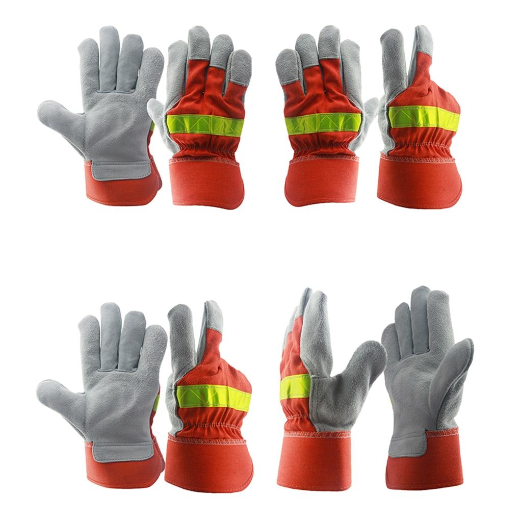Pair Of Antiskid Gloves Heat Resistant Working Gloves Safety Welding Work