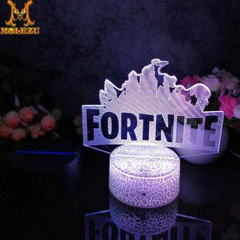 Molezu Halloween Night Of The Fortress2 Pattern 3D Led Night Light Decoration Children Kids Gifts 7 Color Changing Visual Table