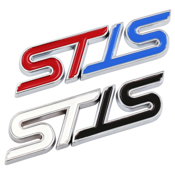 Metal 3D Car Styling ST Front Grille Sticker Car Head Grill Emblem Badge Chrome Sticker For Ford Fiesta Focus Mondeo Auto metal 3d st logo chrome refitting styling car emblem badge auto exterior decal sticker for ford focus mk2 rs kuga mondeo fiesta
