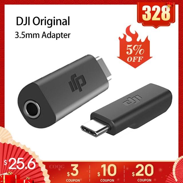 オリジナル dji osmo ポケットマイクアダプタ 3.5 ミリメートルサポート外部 3.5 ミリメートルマイク trs プラグ用 dji osmo ポケットアクセサリー
