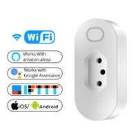 Brasilien Smart Home WiFi Stecker Drahtlose WIFI Fernbedienung Buchse Voice Control Smart Steckdose Unterstützung Alexa Google Hause