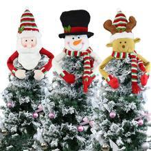 Рождественская Елка Топ милый топ шляпа зимние украшения на