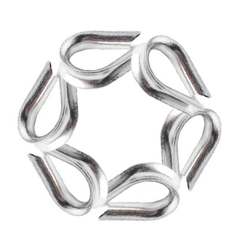 حار جديد 30 قطعة M3 كشتبان الفولاذ المقاوم للصدأ ل 3/32 بوصة و 1/8 بوصة قطر سلك حبل ، سلك حبل سلسلة كشتبان