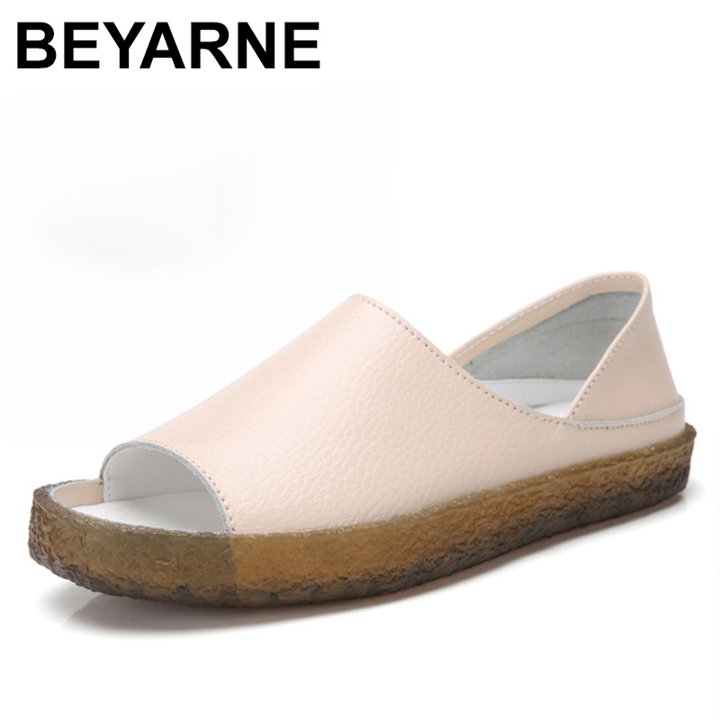 BEYARNEHandmade genuine leather flat sandals for women, casual summer shoes, gladiator sandals for women, large size 35 43E045Womens Sandals   -