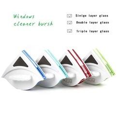 Domu wycieraczka środek do czyszczenia szkła pędzel dwustronnie magnetyczny szczotka do mycia okien szczotka do szyby urządzenia do oczyszczania 3 40MM czyste w Szczotki do czyszczenia od Dom i ogród na