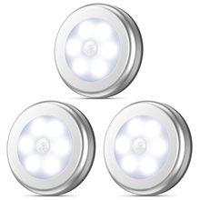 Dersoi-Lámpara LED de noche con Sensor de movimiento para el hogar, luz de armario, cocina, dormitorio, PIR