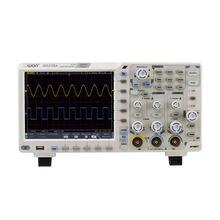 Owon xds2102a osciloscópio digital display lcd 2 canais 100 mhz largura de banda 12 mordidas osciloscópios usb de alta resolução