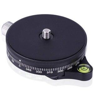 Image 1 - Socle de caméra avec plaque Arca Style suisse, tête de trépied à billes panoramique en aluminium à vis de 0.95Cm avec niveau à bulle, capacité de charge 2
