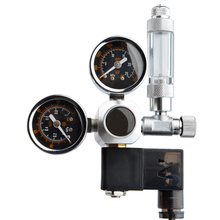 Аквариум домашний давление аксессуары для регуляторов аквариума Высокая точность соленоидный редуктор двойной датчик регулятор для аквариума CO2 система