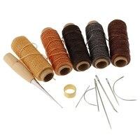 14 шт./компл. Вощеные нитки для шитья иглы Набор инструментов для шитья