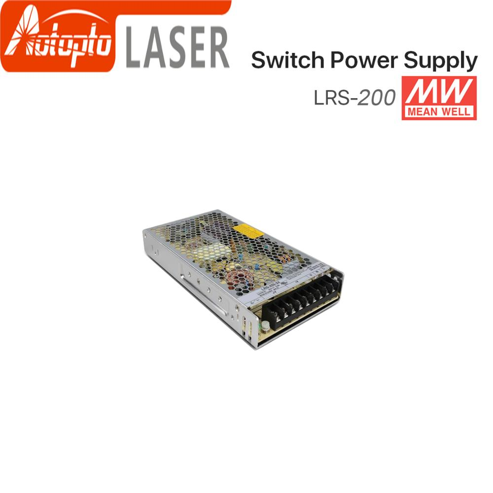 Meanwell LRS-200 Switching Power Supply 12V 24V 36V 48V 200W Original MW Taiwan Brand LRS-200-24