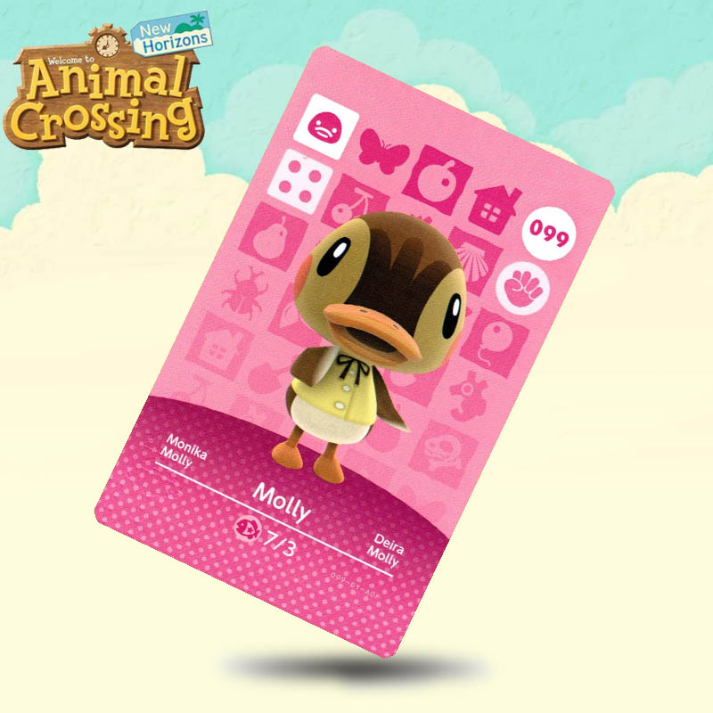 099 Molly  Animal Crossing Card Amiibo Cards Work For Switch NS 3DS Games