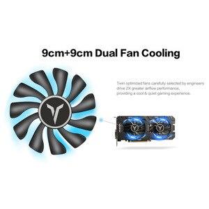 Image 2 - Yeston RX580 2048SP 8G D5 GAEA Graphics Cards Radeon Chill Polaris 20 Dual Fan Cooling 8GB Memory GDDR5 256bit DP*3/HD/DVI D