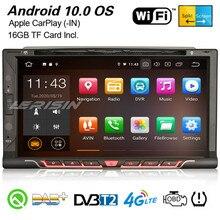 Erisin 5137 Android 10,0 Universal Car Stereo CarPlay GPS WiFi Bluetooth TPMS DVB-T2 DAB + Радио OBD2 DVR USB SD CD DVD 2Din Navi