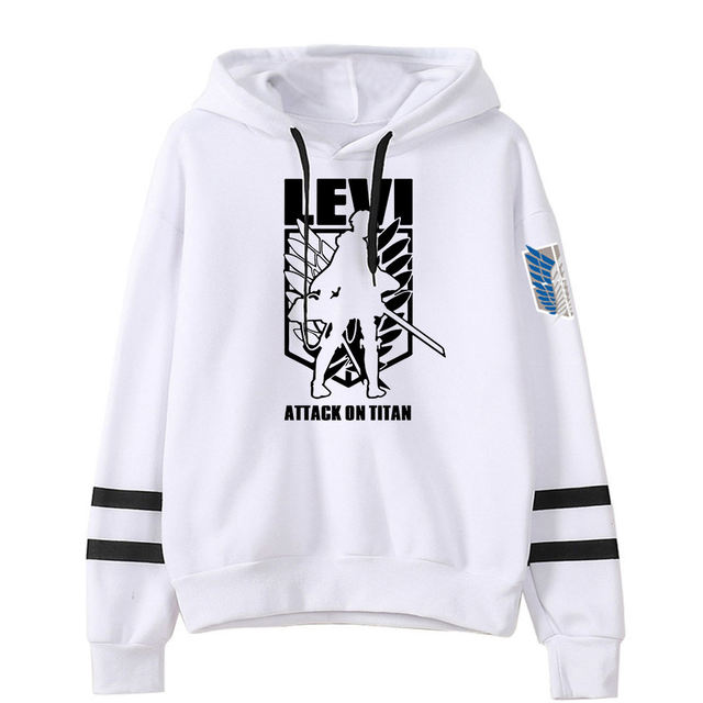 ATTACK ON TITAN THEMED STRIPED HOODIE (25 VARIAN)