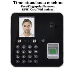 Büro Gesicht zeit teilnahme maschine Alone DC5V U-disk USB TCP/IP Wifi Batterie LCD Bildschirm biometrische fingerprint code karte