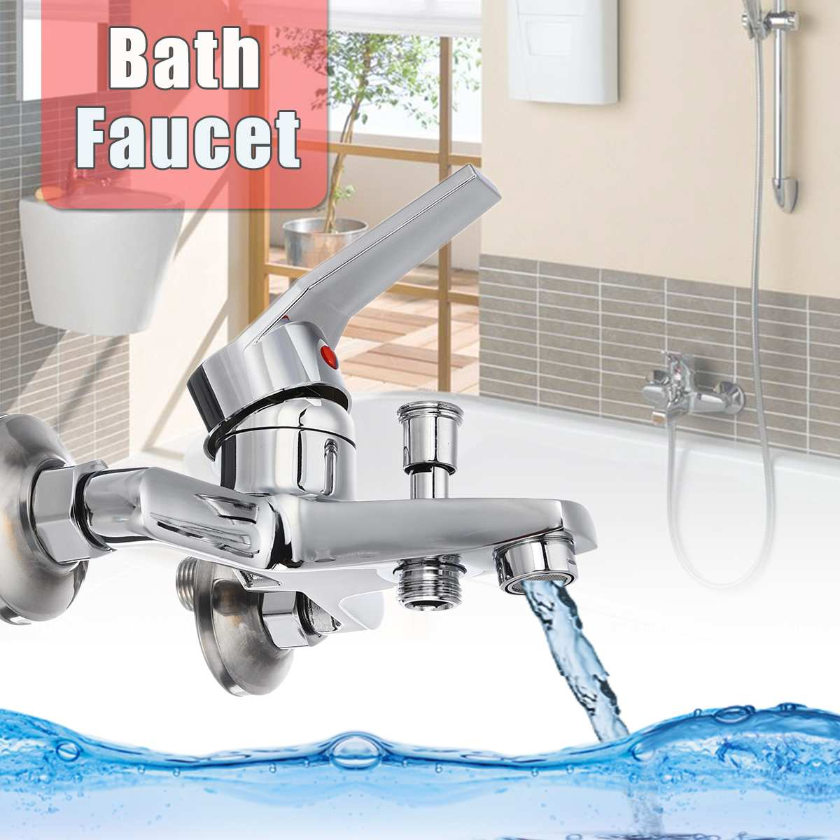 Bathtub Faucet Bath Faucet Mixer Tap High Quality Wall Mounted Hand Held Shower Head Kit Shower Faucet Sets Bath Water Mixer image