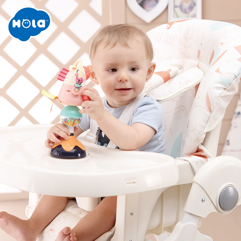 HOLA 3150A Baby Rattle Spinwheel With Suction Base High Chair Interactive Toy For Baby Toddlers 0-12 Months Early Development