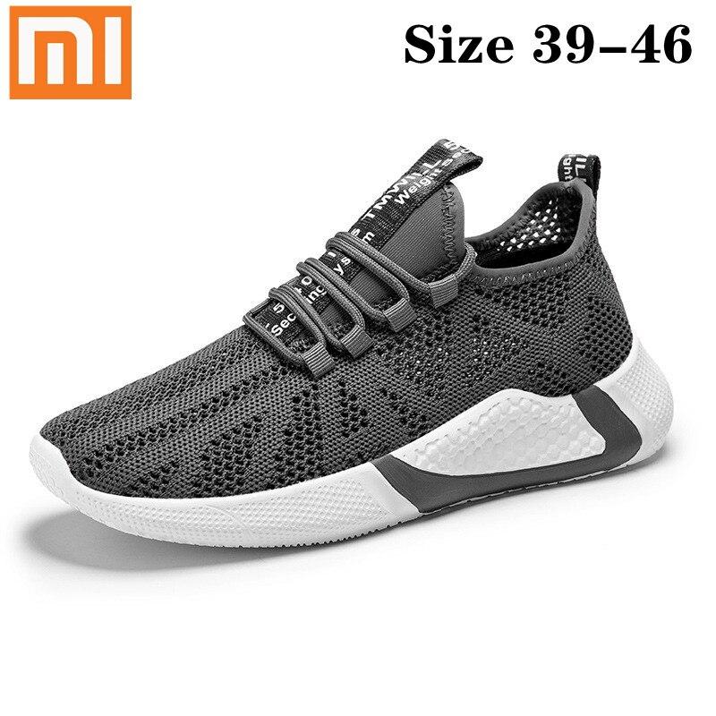 Size39-46 Xiaomi Mijia мужские кроссовки Linghtweight пропускающие воздух мужские кроссовки для бега; Удобная нескользящая обувь; Износостойкая спортивна...