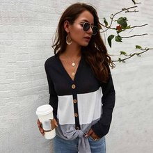 Plus Size Women Contrast Knit Sweater V-neck Lace Top Boho  Vacation Casual Normcore Clothes Warm Simple Sweater