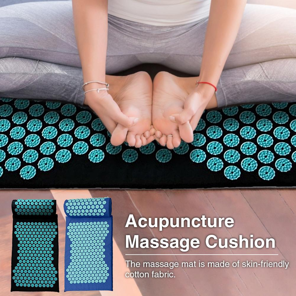 Acupressure Massage Mat including Pillow Sets to Relieve Stress and Back Pain with Spike 9