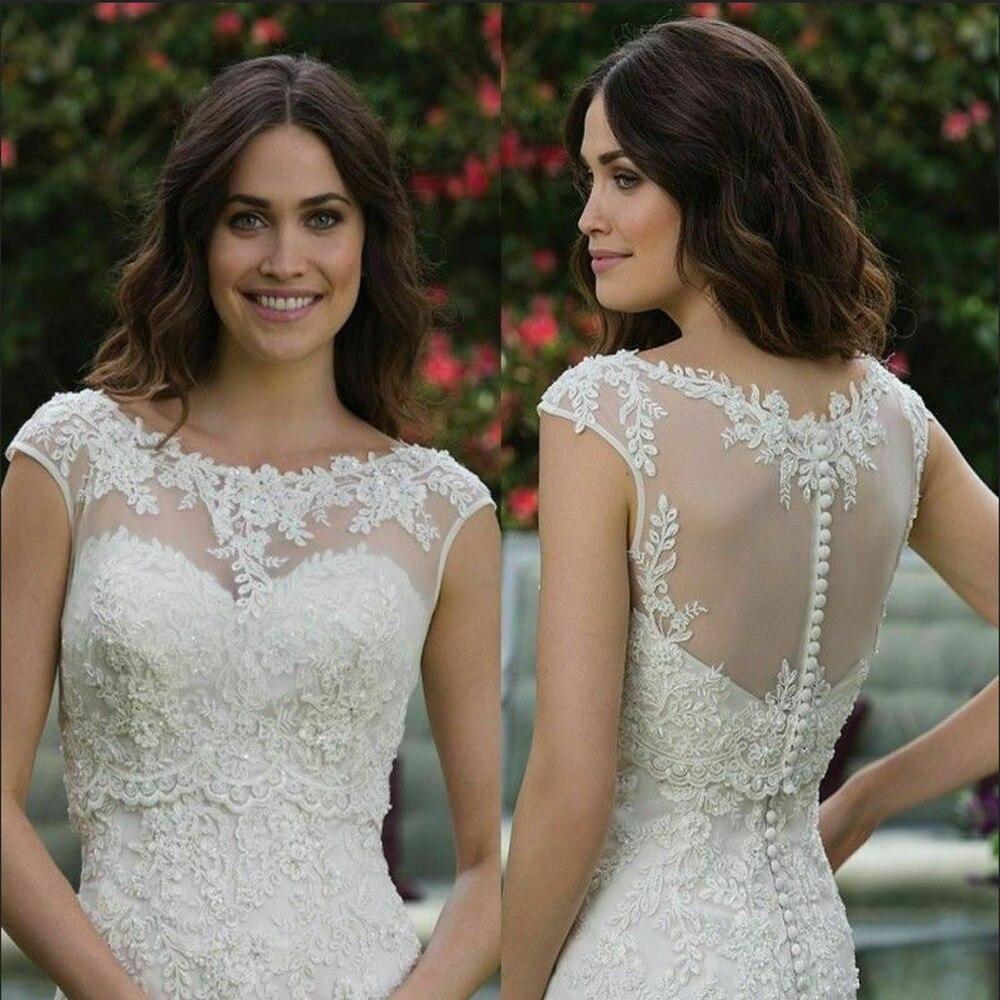 Scoop Wedding Jacket Sleeveless Bride Bolero Top Lace Applique White Ivory Wraps Shrug