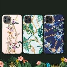 Orijinal Kingxbar zincir ve kristaller elemanları sert telefon kılıfı için Apple iPhone 11/ Pro/ Max lüks tam koruma çantası case arka kapak
