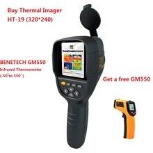 3,2 дюймов TFT ручной инфракрасный прибор контроля температуры Профессиональный инфракрасный тепловизор тепловая камера HT-19