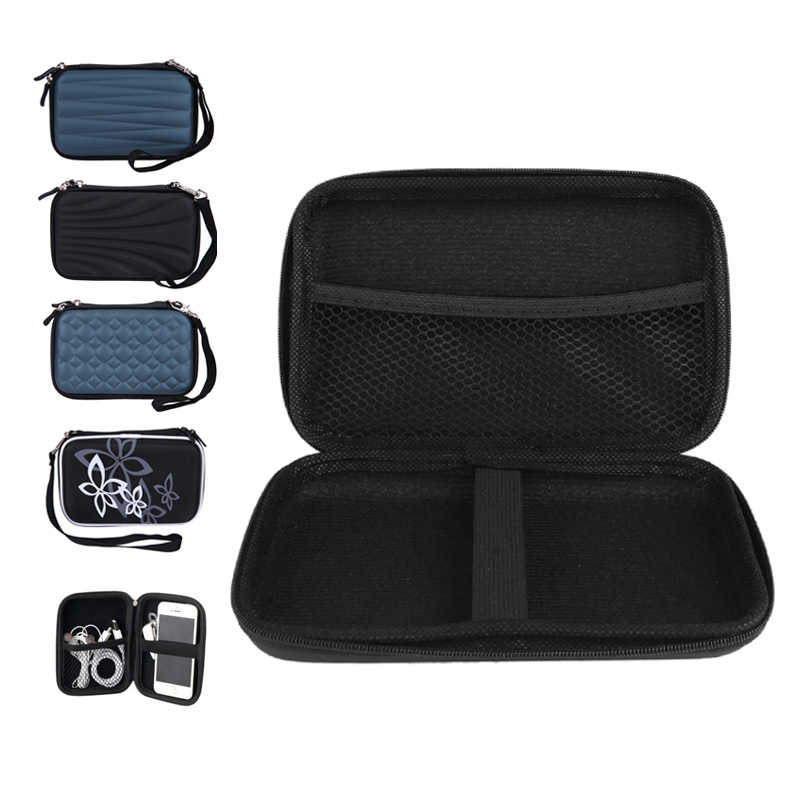 "2.5""3.5"" HDD Bag External USB Hard Drive Disk Carry Usb Cable Case Cover Pouch Earphone Bag for PC Laptop Hard Disk Case"