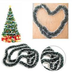 200 cm Christmas Decor Mall Bar Tops Ribbon Garland Streamers Christmas Tree Ornaments White Green Cane Tinsel Party Supplies 3