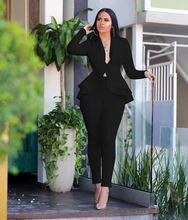 Профессиональная повседневная одежда модный костюм с рюшами