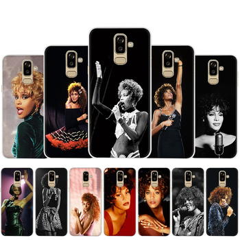 Whitney Houston Transparent Phone Case for Samsung J3 J4 Core J4 J6 Plus Prime J5 J8 Back Cover image