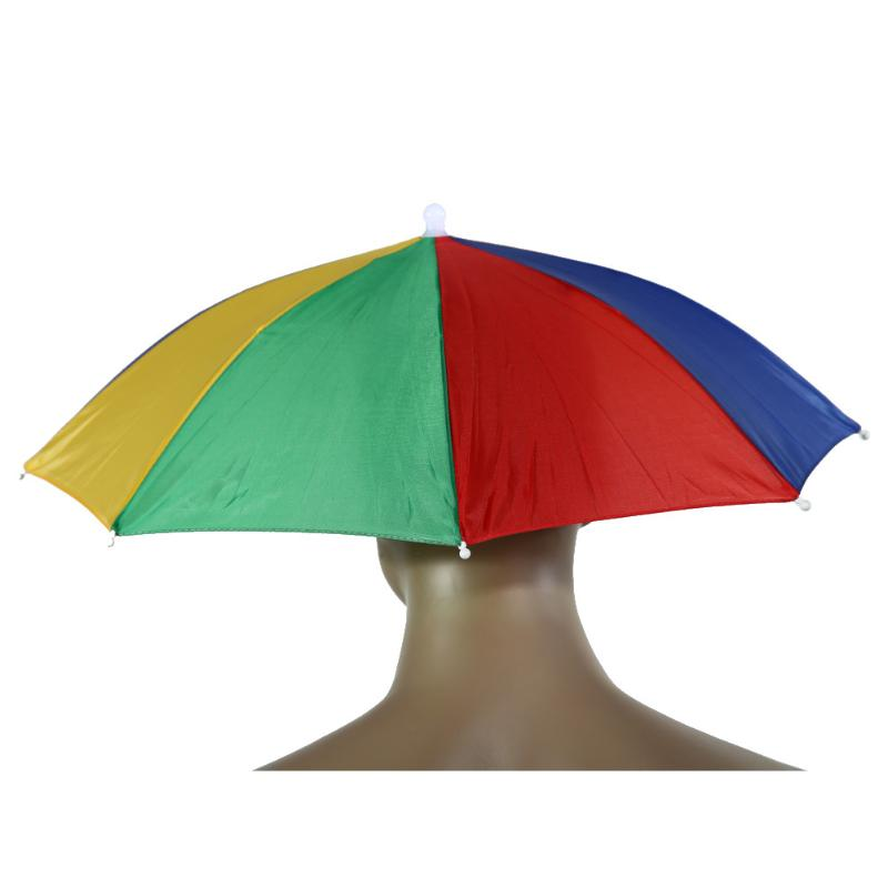 Foldable Umbrella Hat Caps Umbrella for Fishing Hiking Beach Camping Headwear Head Umbrella Outdoor Sports Rain Gear