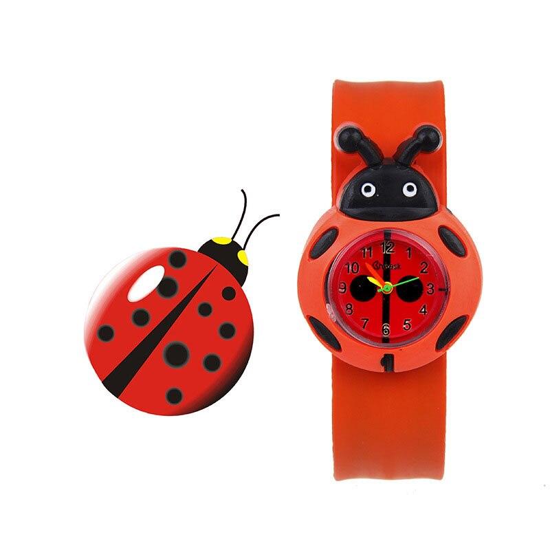 Droppshiping 1 Pcs Children Kids Wrist Quartz Watch Silicone Strap Cute Cartoon Style Fashion Birthday Gift D88