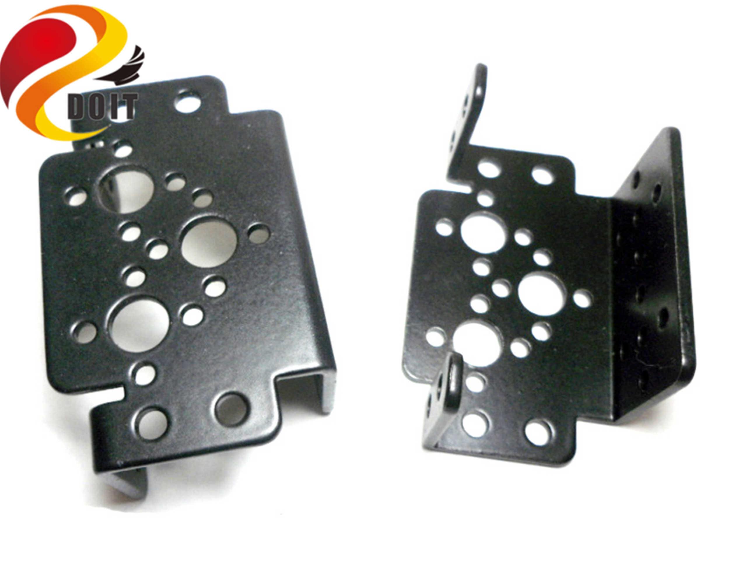 SZDOIT Metal çok fonksiyonlu standart Servo braketi 2mm Pan & Tilt braketi RC robotik kol parçası